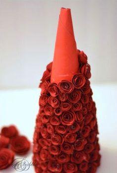 Arbol de Navidad con flores de papel ~ lodijoella