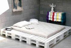 Palettenbett Kissen, Auflagen und alternativen