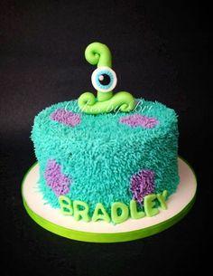 Disney Party Ideas: Monsters inc smash birthday cake Monster Smash Cakes, Monster Inc Cakes, Cake Smash, Monster Inc Party, Monster Birthday Parties, Monsters Inc, Disney Monsters, Birthday Cookies, Birthday Cake