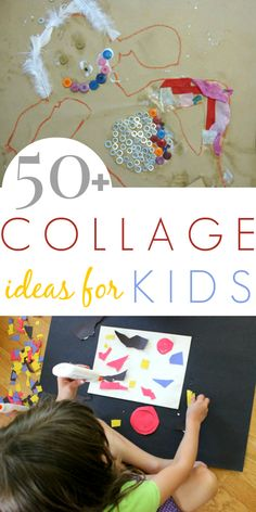So many fun collage ideas for kids!