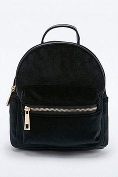 Mini sac à dos en velours