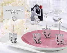 Iconic Love Place Card Holder