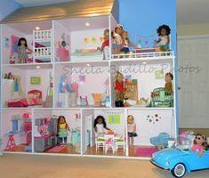 American Girl Doll Play: Amazing American Girl Doll House!   Perfect if you have a spare level in your house to devote to them.