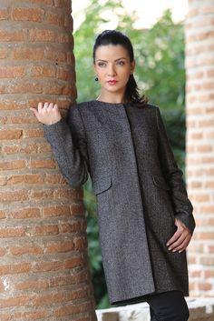 Minimalist smart coat #yokko #fashion #aw14
