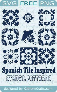 Free Spanish Tile Inspired SVG Stencil Cutting Files » Kabram Krafts