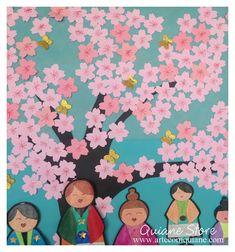 Inspiração para o dia da árvore! decorando a escola com a Sakura ( Cerejeira)