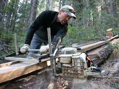 Chainsaw mills are inexpensive and appealing access is limited. Portable chainsaw mills usually run off a framework constructed around the log you cut.