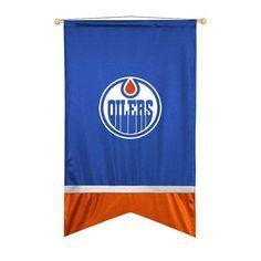 Edmonton Oilers Sidelines Ribbon Style Wall Flag