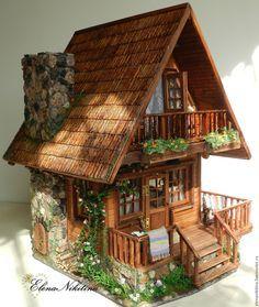 Купить Дом, где живёт мечта... - кукольный дом, кукольная миниатюра, румбокс, кукольная мебель