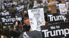 Tens of thousands of people are to take part in nationwide protests on Monday against US President Donald Trump's state visit to the UK later this year.