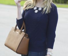 Navy + Camel | Fancy Things Blog