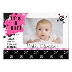 punk rock birth announcements - Google Search@ Molly Smith!! She has your name!!! Lol