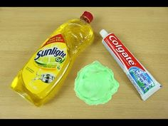 Dish Soap and Colgate Toothpaste Slime , How to Make Slime Soap Salt and Toothpaste, NO GLUE !! - YouTube