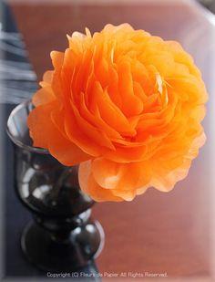 お花紙で作るバラの作り方 Fleurs de Papier 〜クラフトパンチや花紙で作る立体のお花いろいろ〜