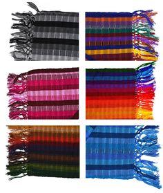 Fringed scarf Colorful Pashmina shawl Pashmina by IKALAoutfitter