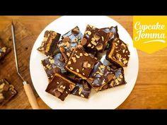 Peanut Butter Cookie Dough Chocolate Brownies   Cupcake Jemma - YouTube