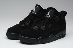 promo code 8de66 4899c Nike Air Jordan 4 IV Retro Mens Shoes Black   Black   Light Graphite Jordan  Retro