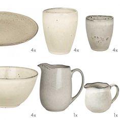 Frühstücksservice aus der Broste Nordic Sand Serie. Handgearbeitet und Spülmaschinenfest. Überzeugen Sie sich von der Qualität im Glashaus!