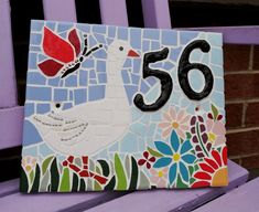 Handmade mosaic. 25×20cm Wooden Keepsake Box, Keepsake Boxes, Art Craft Store, Craft Stores, Mosaic Flowers, Mosaic Crafts, House Numbers, Wedding Gifts, Arts And Crafts