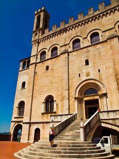 The 15th century Palazzo dei Consuli in Gubbio, Italy by Anguskirk, via Flickr