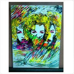 Madonna 80x60 acrílico.   Http://luisinagentile.tumblr.com