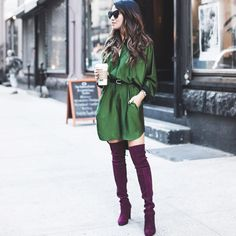 "Wendy Nguyen on Instagram: ""New blog post [10.19.15]! Emerald and burgundy on www.wendyslookbook.com 