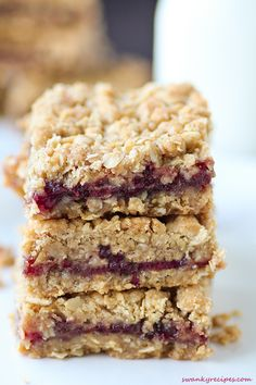 Strawberry Oatmeal Squares