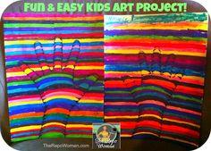 Kids Art Project, Art Project idea for kids, drawing tutorial 3d hand,