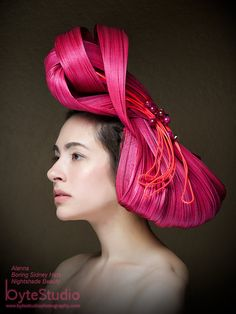 Items similar to Kentucky Derby Avant Garde Hat Sculptural Headpiece Hot PinkJinsin Fascinator Hatinator on Etsy Melbourne Cup Fashion, Battery Operated Led Lights, Derby Hats, Kentucky Derby, Fascinator, Hot Pink, Sculpture, Portrait, Trending Outfits
