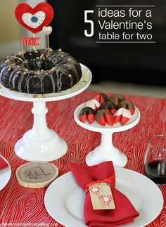 5 ideas for Valentines table for two