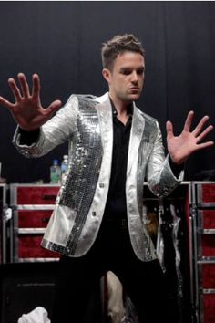 Silver sequins brandon & his jackets