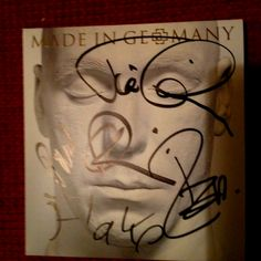 Rammstein - Made in Germany signed