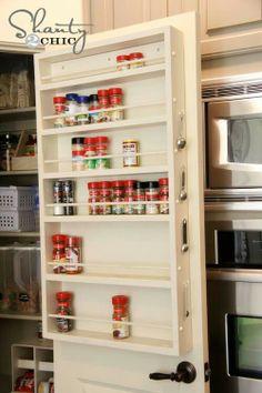 diy pantry door spice rack, cleaning tips, closet, storage ideas, DIY Spice Rack Kitchen Organization, Kitchen Storage, Closet Storage, Pantry Storage, Bathroom Storage, Spice Rack Organization, Pantry Diy, Organized Pantry, Pantry Closet