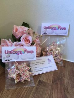 Chocolate Unicorn Poop Unicorn Birthday Party Bags Favours