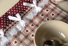 Gift idea for couples Shabby chic placemat / by RevesCreazioni, €18.00