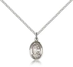 Sterling Silver St. Raphael the Archangel Patron Saint Medal Pendant - Small, St. Raphael The Archangel, Patron Saints - R, Patron Saints, Jewelry by Bliss, Jewelry & Medals, Categories at HolyFamilyOnline.com