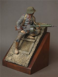 I Guerra mundial - Apontador de metralhadora (WWI - German machine gunner)