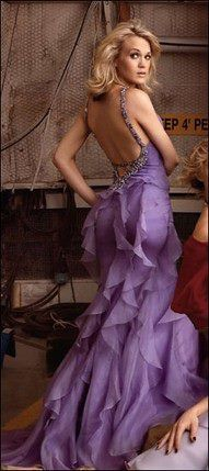 Love the back of this lavender dress