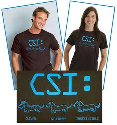 Bassotto CSI t-shirt taglie di whatsupdox su Etsy Dachshund Gifts 993ab6d5c