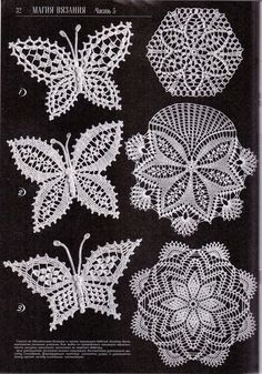 What can be better than decorating your home full of crochet butterfly patterns? Appliques Au Crochet, Crochet Motifs, Freeform Crochet, Crochet Diagram, Thread Crochet, Knit Or Crochet, Irish Crochet, Crochet Doilies, Tatting Patterns