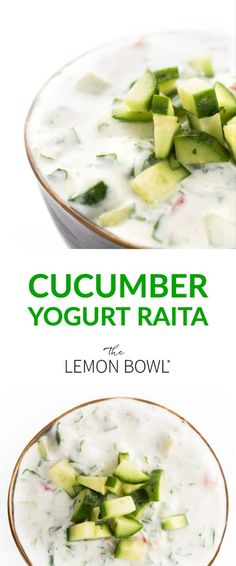 Creamy yogurt, crunchy cucumbers and fresh herbs create this refreshing sauce perfect for grilled meats and naan bread. Creamy yogurt, crunchy cucumbers and fresh herbs create this refreshing sauce perfect for grilled meats and naan bread. Indian Salads, Indian Dishes, Lebanese Recipes, Indian Food Recipes, Ethnic Recipes, Good Healthy Recipes, Vegetarian Recipes, Easy Recipes, Yogurt Recipes