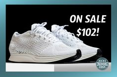 """Grab the """"Triple White"""" Flyknit Racer for $102 with code """"10SPRING100"""""""