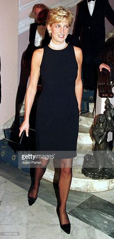 Diana, The Princess Of Wales, Attends A Buffet Dinner At The Grand Hotel, In Rimini, Italy.The Princess Was In Rimini To Receive A Humanitarian Award For Her Charity Work.