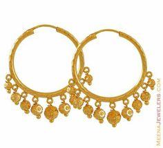 Gold Hoops with Danglings ( Hoop Earrings )