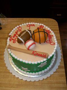 Sports Theme Birthday Cake By Stephanie Dillon Ls1 Hy Vee