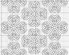 Biscornu Freebie Patterns   free blackwork fill pattern