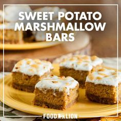 Indulge in a dessert that combines the beloved flavors of sweet potato with graham crackers, cinnamon and gooey, toasted marshmallows in a bite size treat that will be sure to please.