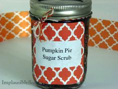 Implausibly Beautiful: Pumpkin Pie Sugar Scrub