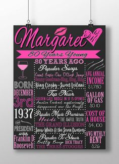 1937 birthday board 1937 facts 1937 history by CustomPrintablesNY