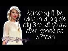 Mean (Live) - Taylor Swift - Lyrics